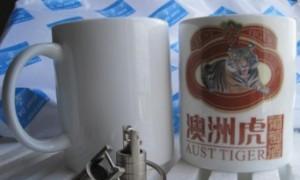 广告陶瓷杯实物图