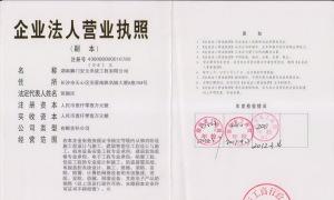 湖南狮门安全系统工程有限公司营业执照