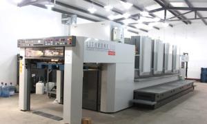 日本小森对开四色印刷机