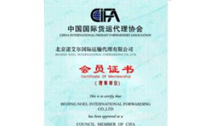 中国国际货运代理协会理事单位