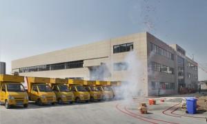 海宁申通快递公司2012年10月搬迁新厂房